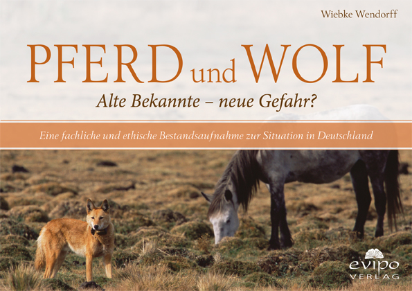 """Die neue Broschüre """"Pferd und Wolf"""" von Wiebke Wendorff, erhältlich für 3,00 € im evipo-Verlag."""