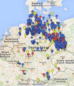 Übersichtskarte Wölfe in Deutschland, Quelle: Stephan Grafe, NABU-Wolfsbotschafter